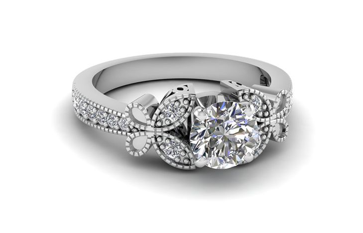 Butterfly Pave Round Diamond 