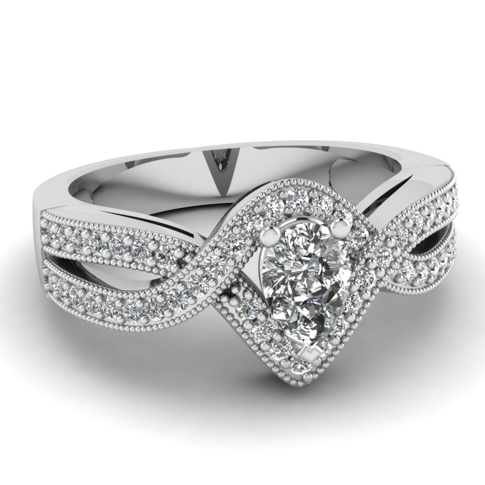 Image result for pear infinity engagement band