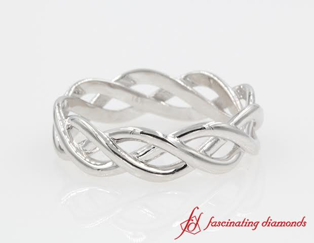 Twist Infinity Gold Wedding Band