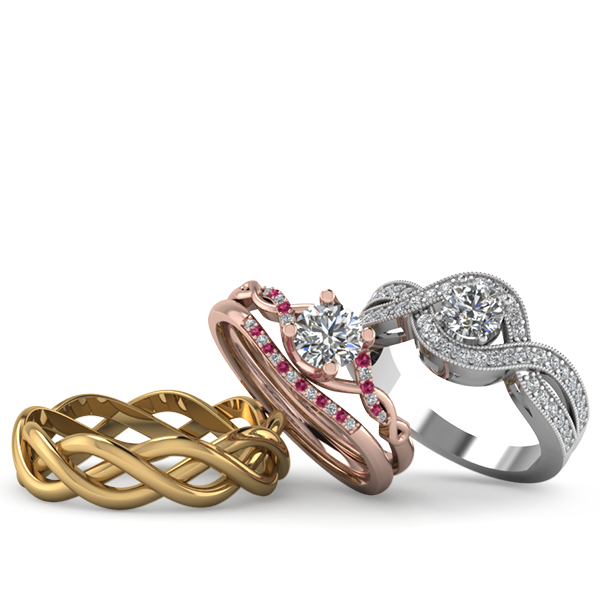 Beautiful infinity Engagement Rings