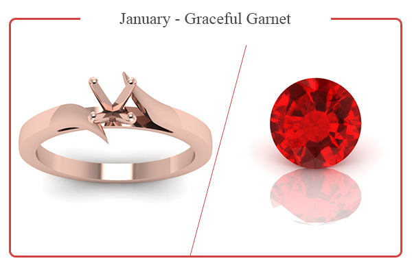 JANUARY BIRTHSTONE RINGS-GARNET