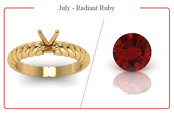 JULY BIRTHSTONE RINGS-RUBY