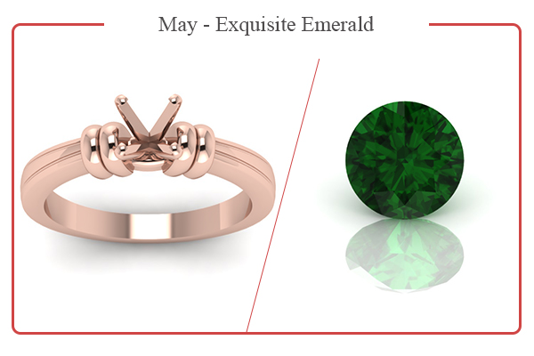 MAY BIRTHSTONE RINGS-EMERALDS