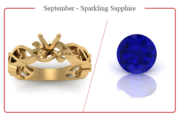 SEPTEMBER BIRTHSTONE RINGS-SAPPHIRES
