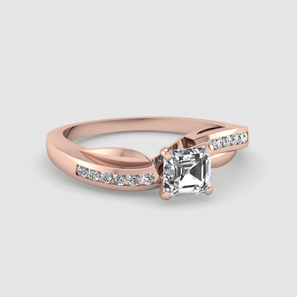 Twist And Swirl Engagement Rings