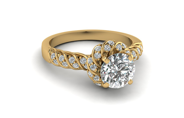Twist Rope Design Round Halo 