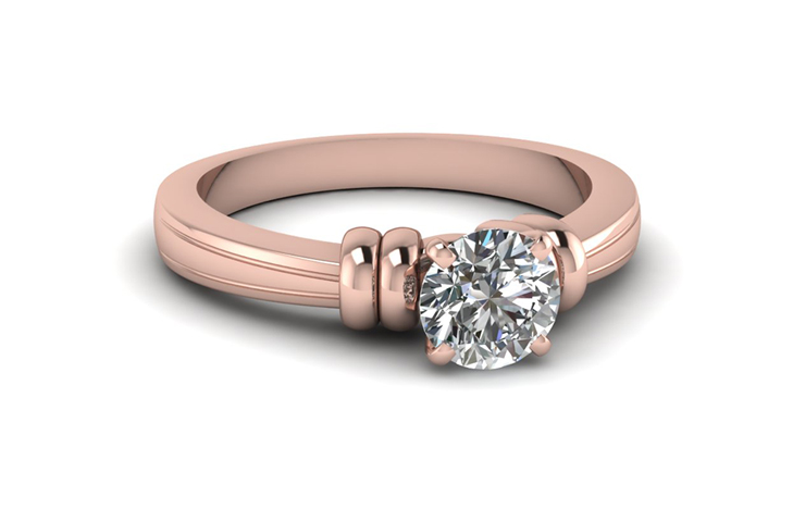 Round Cut Solitaire Engagement Rings Style