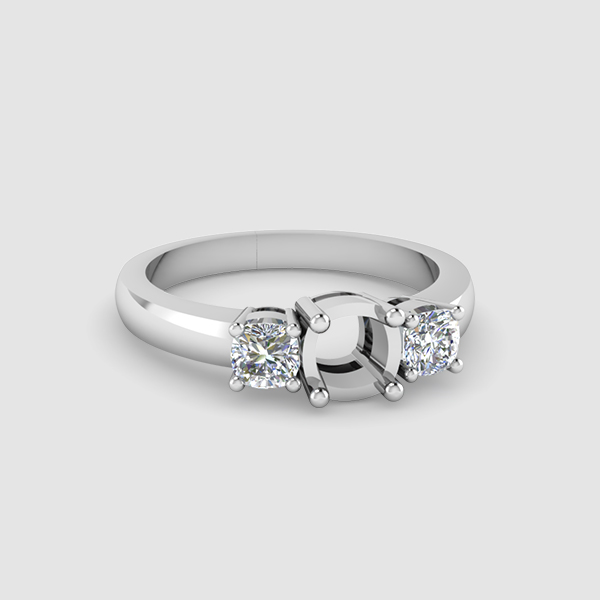 3 diamond ring setting