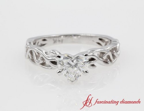 Heart Shape Single Stone Diamond Ring