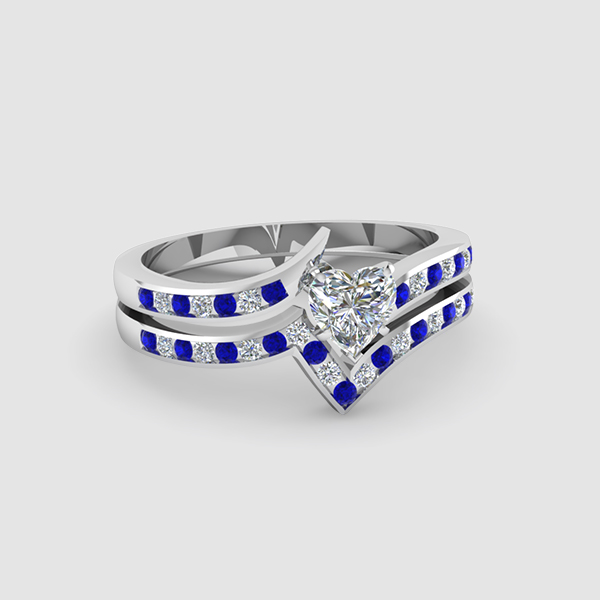 sapphire wedding rings sets