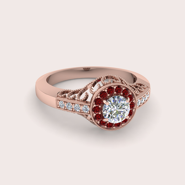 vintage ruby engagement rings