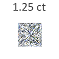 1.25 Carat Princess Cut Diamond