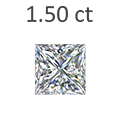 1.50 Carat Princess Cut Diamond