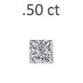 .50 Carat Princess Cut Diamond