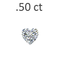 0.50 Carat Heart Shaped Diamond