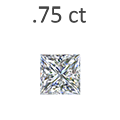 .75 Carat Princess Cut Diamond