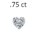 0.75 Carat Heart Shaped Diamond