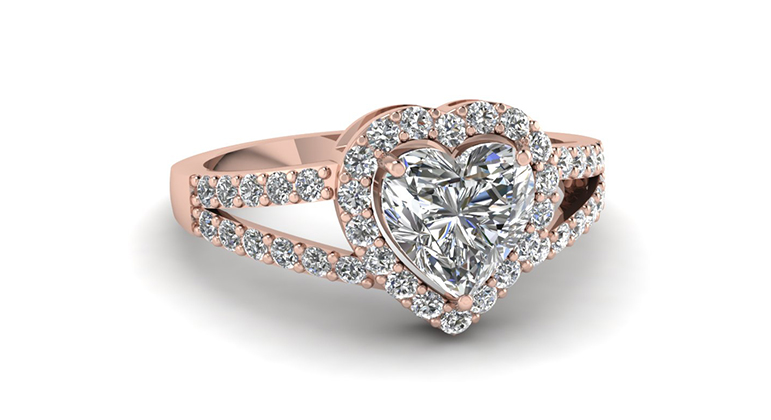 Heart shaped engagement rings fascinating diamonds heart shape halo engagement rings style junglespirit Gallery