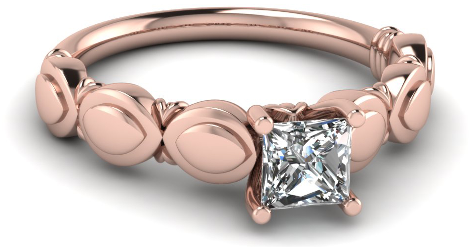 Princess Cut Solitaire Engagement Rings Style