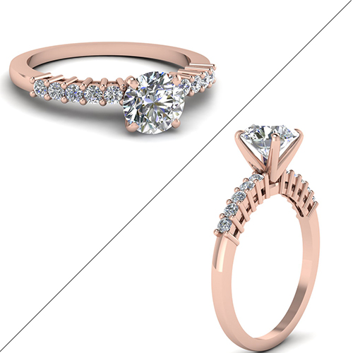Common Prong Round Diamond Ring
