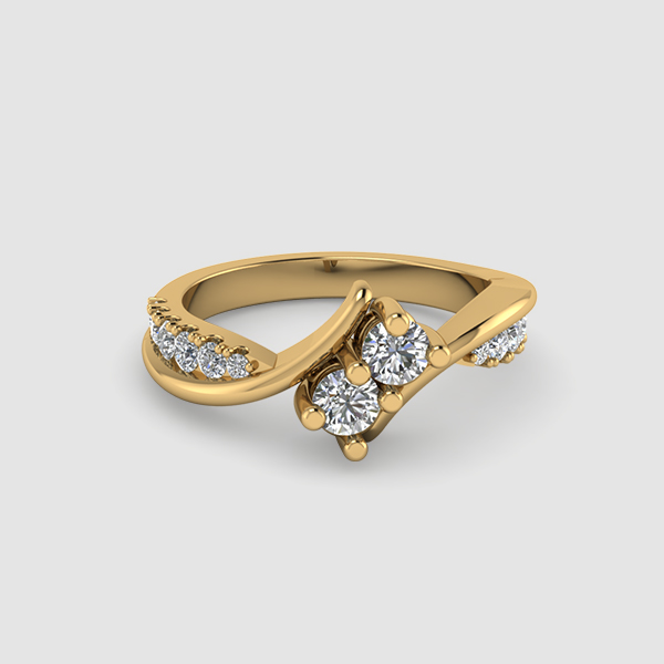 2 Diamond Engagement Ring