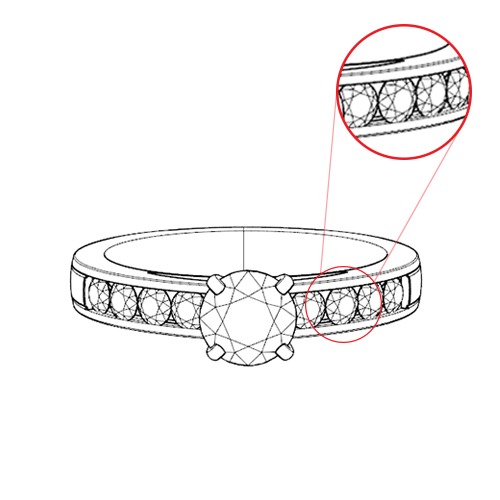 Channel Engagement Ring Settings