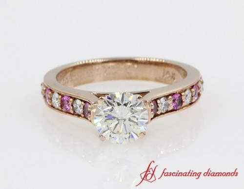 Rose Gold Diamond Sapphire Ring