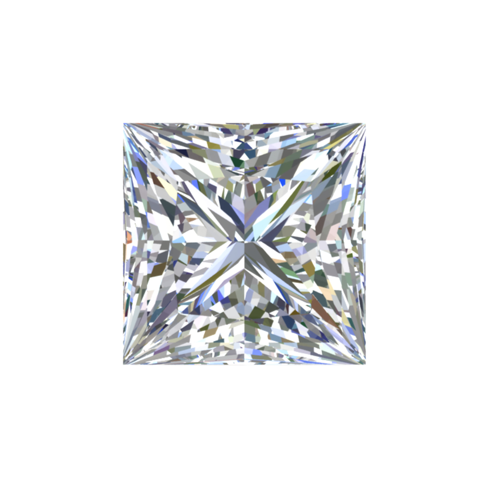 GIA Certified 0.5 Carat Princess Diamond with F Color, IF Clarity, Excellent Cut