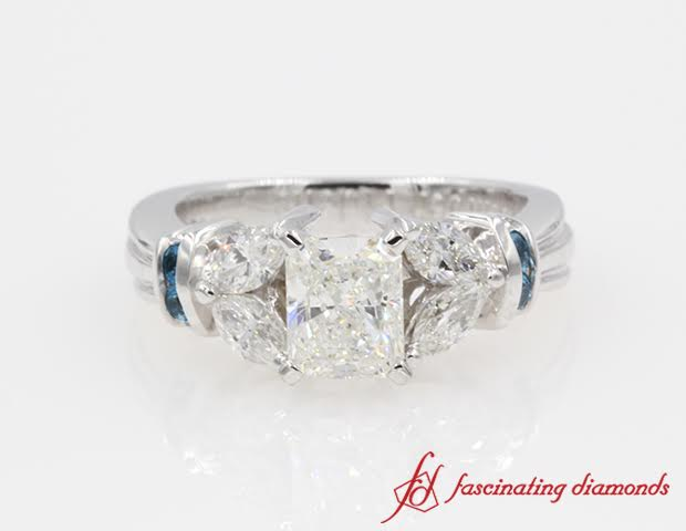 Nature Inspired Emerald Cut Engagement Rings