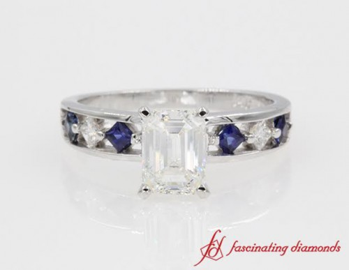 Kite Diamond And Sapphire Ring