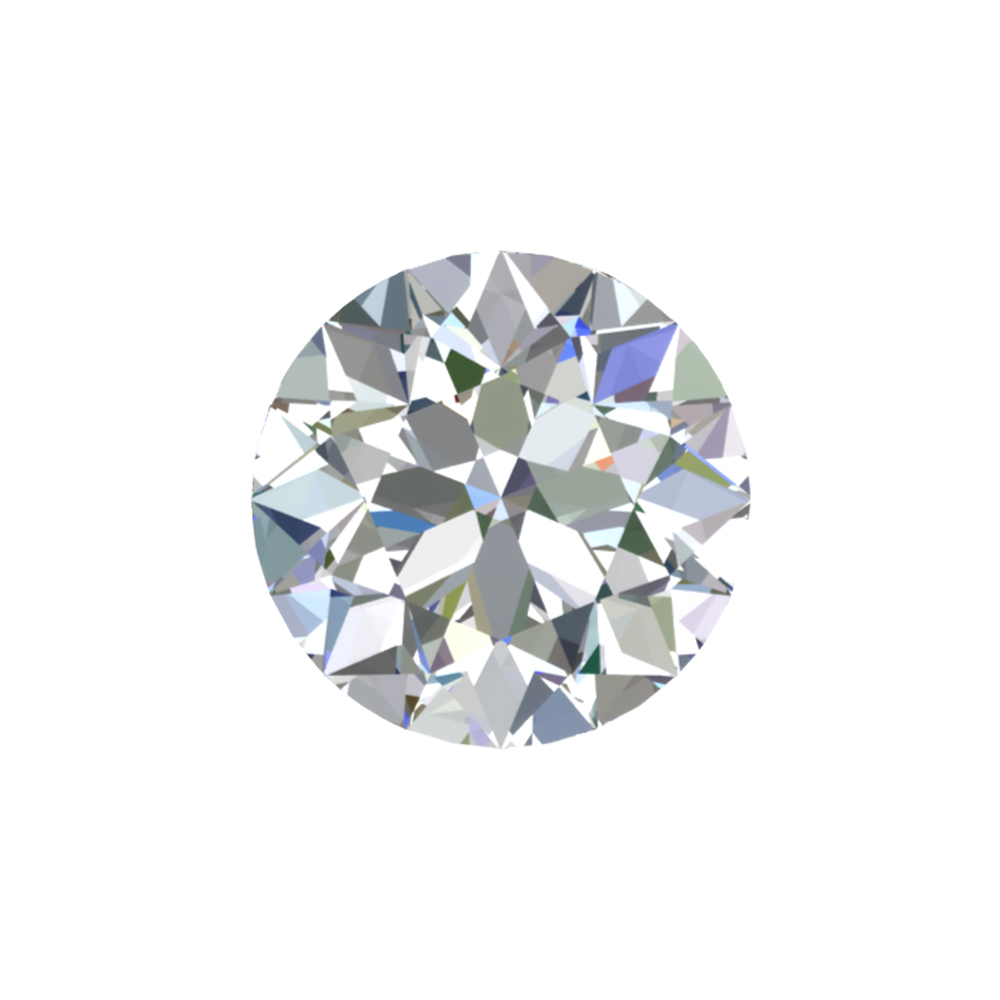 GIA Certified 1 Carat Round Cut Diamond with H Color, SI1 Clarity, Ideal Cut