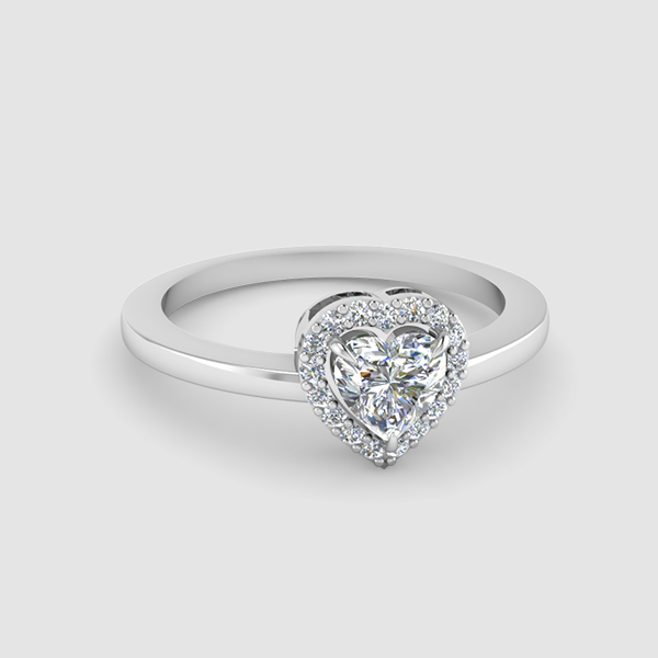 Halo Heart Diamond Rings