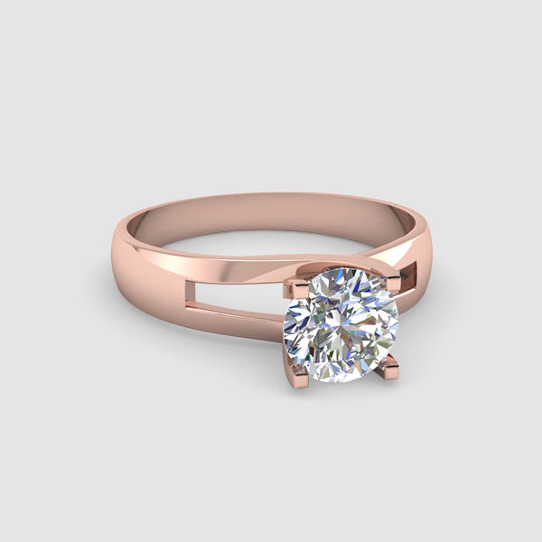 Solitaire Round Diamond Rings