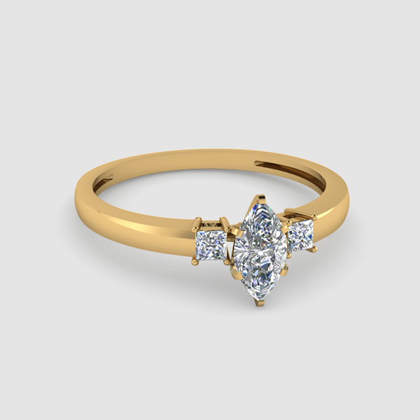Three Stone Marquise diamond Rings