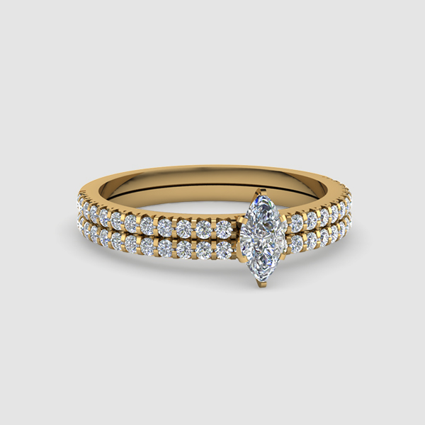 Marquise Cut Wedding Rings & Bands