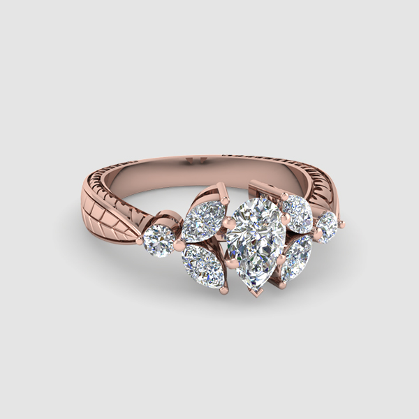 Pear Shaped Vintage Diamond Rings