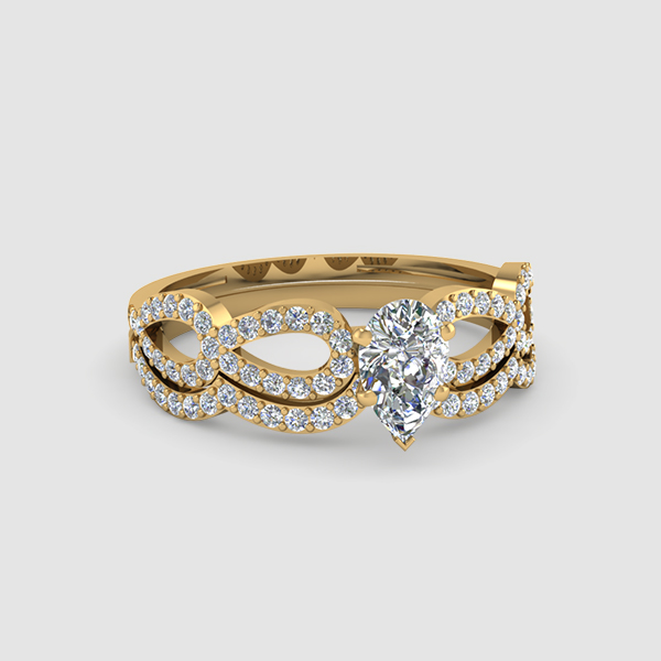 Pear Shaped Wedding Rings & Bands