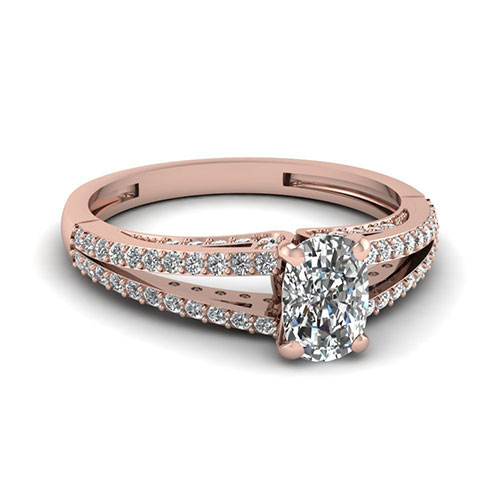 0.75 Carat Cushion Diamond Engagement Ring