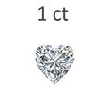 1 Carat Heart Cut Diamond