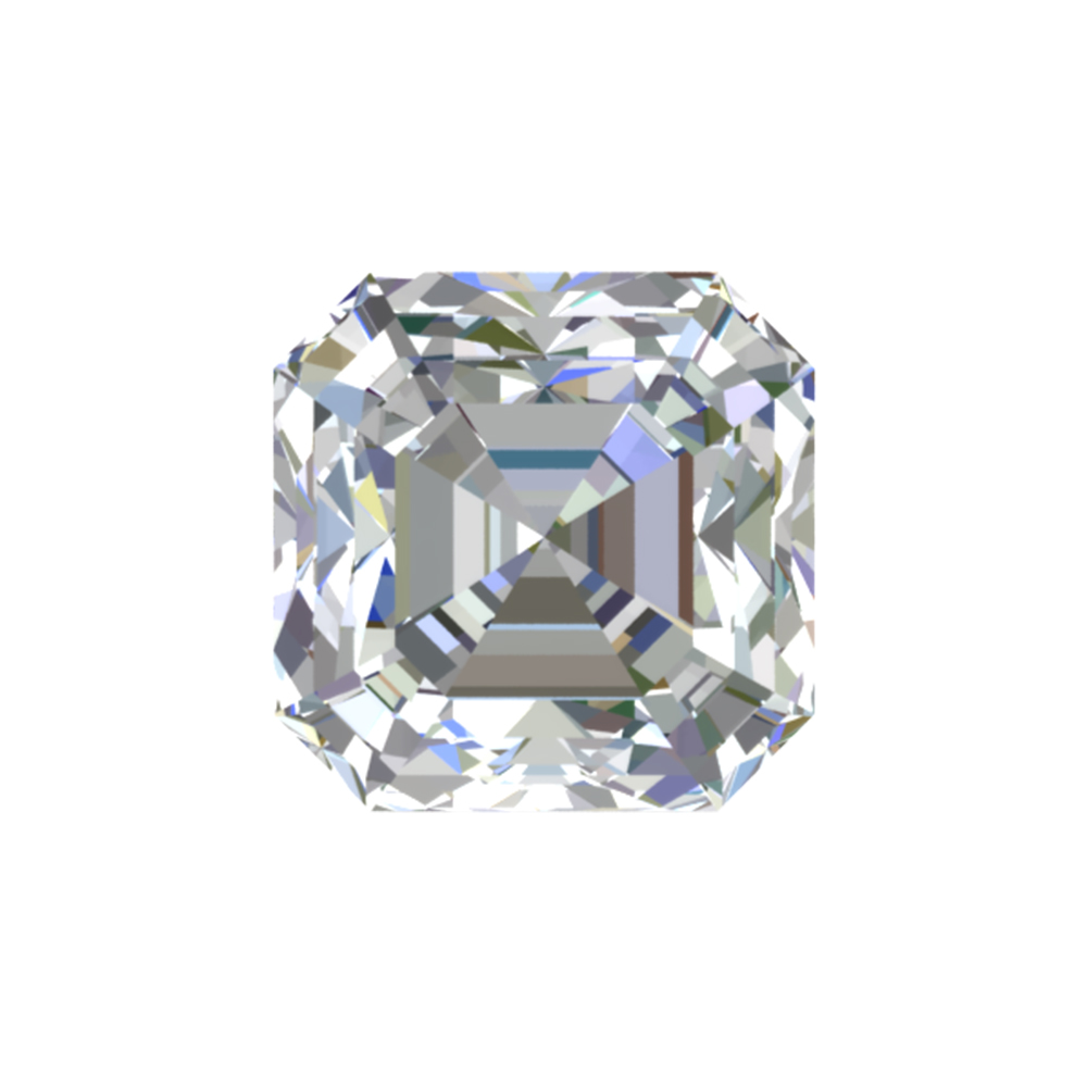 GIA Certified 0.94 Carat Asscher Cut Diamond with J Color, VVS1 Clarity,  Excellent  Cut