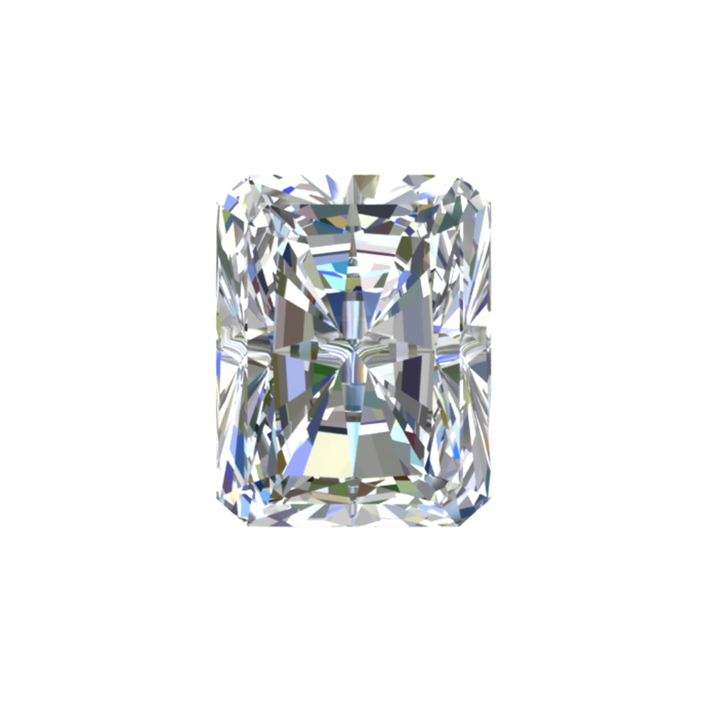 GIA Certified 0.4 Carat Radiant Diamond with E Color, VVS1 Clarity, Excellent Cut