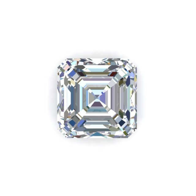GIA 1 Carat Asscher Cut Diamond With I Color VVS1 Clarity