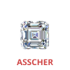 3/4 Carat Asscher Cut Diamonds