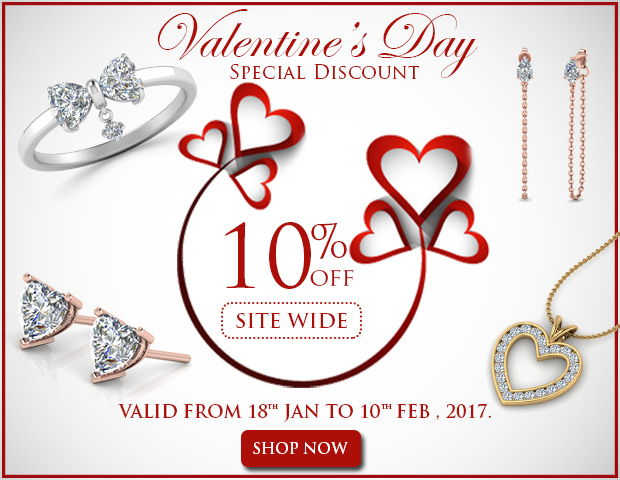 10% Off On All Diamond and Gemstone Jewelry At This Valentine's Day
