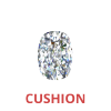 3/4 Carat Cushion Cut Diamond