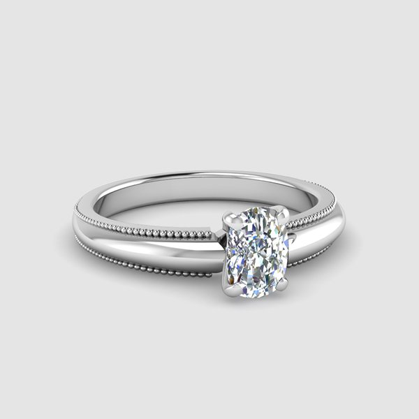 Cushion Halo Engagement Ring  Brilliant Earth