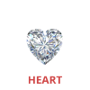 3/4 Carat Heart Shape Diamonds