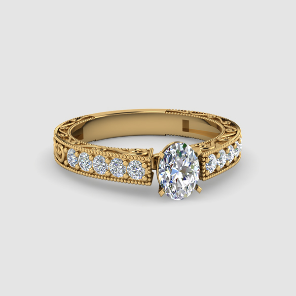 Oval Shaped Vintage Diamond Rings