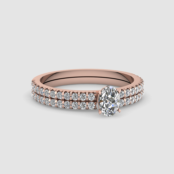 Oval Shaped Wedding Rings & Bands