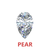 Pear Shaped 0.75 Ct. Diamonds